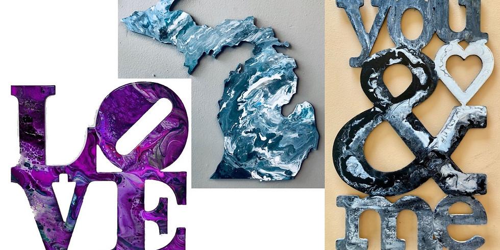 Pick your Design Pour Paint Workshop ~ Sweetest Day!