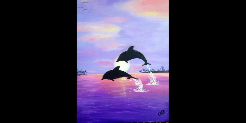 Dolphin Sunset - Rockford