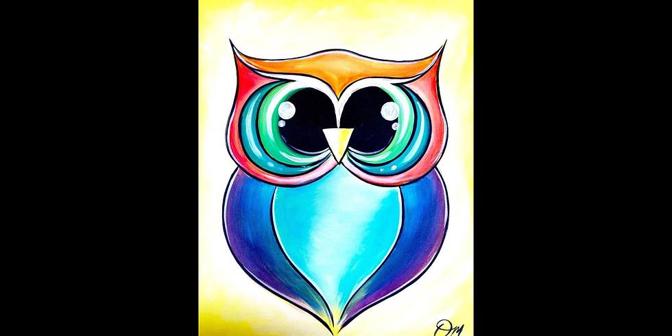 Hooty Owl ~ COOKIES & CANVAS