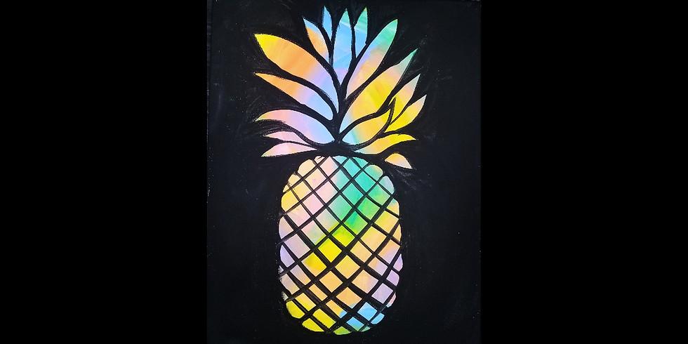 Rainbow Pineapple - $20 11x14, $2 Bottle Beer Special