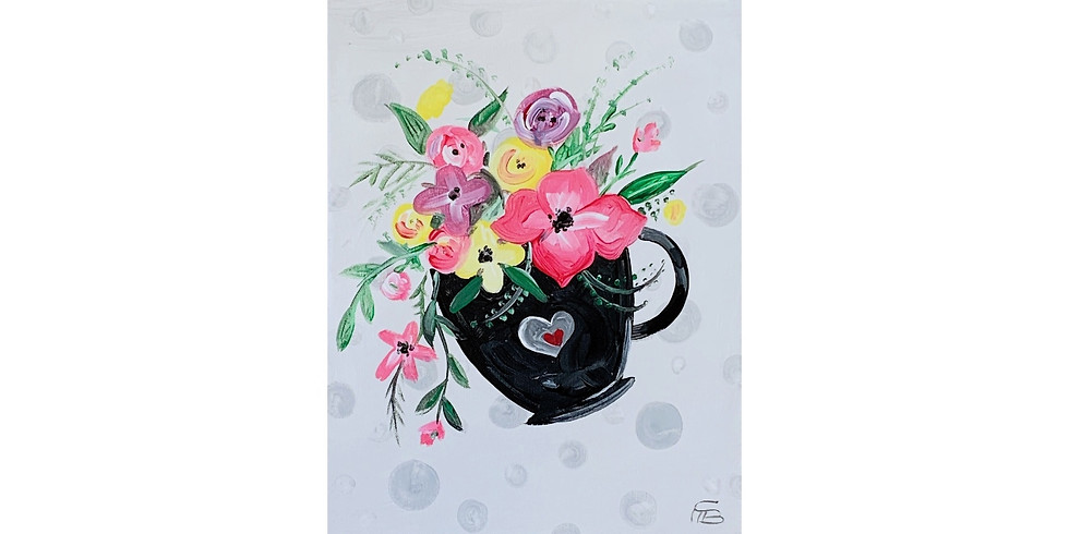 Floral Coffee - 1/2 off bottles of Wine!