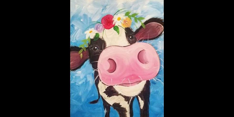 Floral Cow - Walker