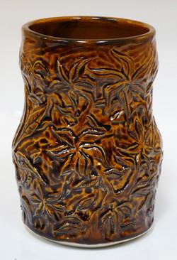 Laurel Vase Amber