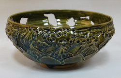 Lotus Cut-Out Bowl Green