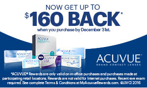 Acuvue contact lens rebates