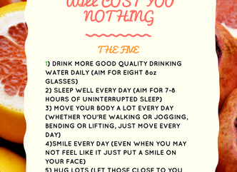 5 THINGS TO BOOST YOUR HEALTH THAT WILL COST YOU NOTHING