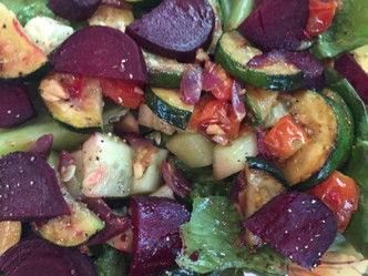 BEET, ZUCCHINI AND RED ONION SALAD