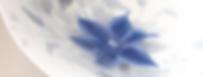 小形こず恵 青彩百花 染付鉄線紋鉢