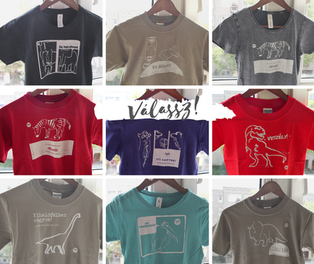 Gyerek, tínedzser, férfi és női pólók