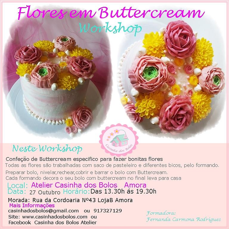 Workshop Flores de Buttercream Cake