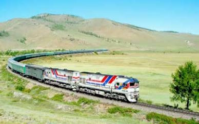 UB鉄道公社がロシアから 中国まで石油を輸送