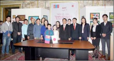 草の根文化無償資金協力「モンゴル子ども芸術センター改修計画」署名式