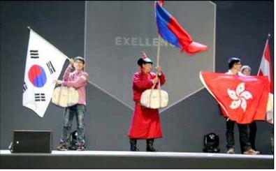 国際アビリンピック モンゴル代表が銀メダル3個