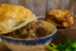 Grass fed beef and Guinness Pie