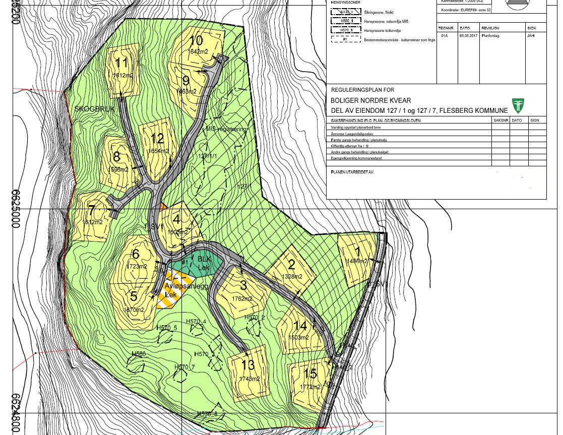 Detaljreguleringsplan Nordre Kvear