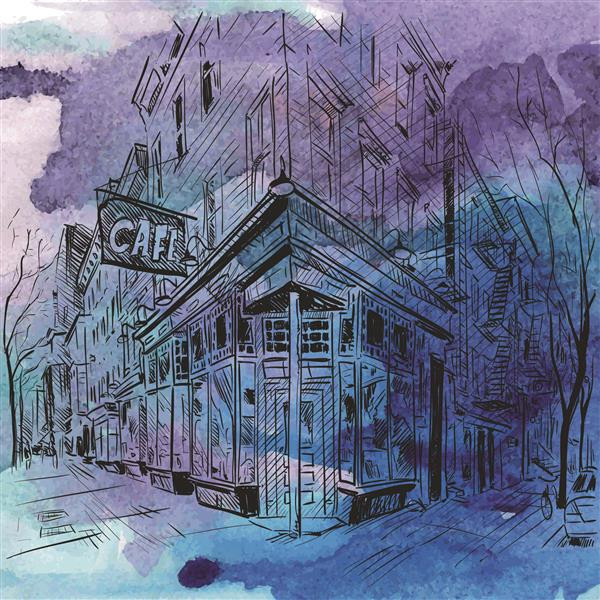 Artes visuais 114-Cafeteria em desenho.j