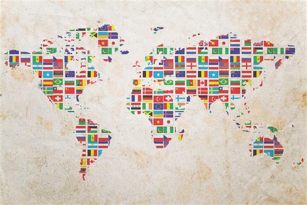 Mapa 023-Mundo bandeiras