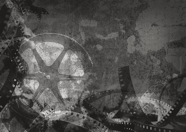 Cinema 024-Grunge preto e branco