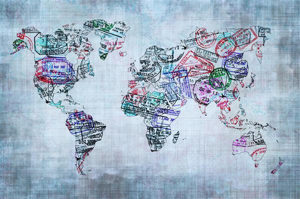 Mapa 013-Mapa mundo design carimbo