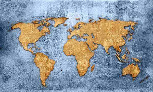 Mapa 002-Mundo grunge