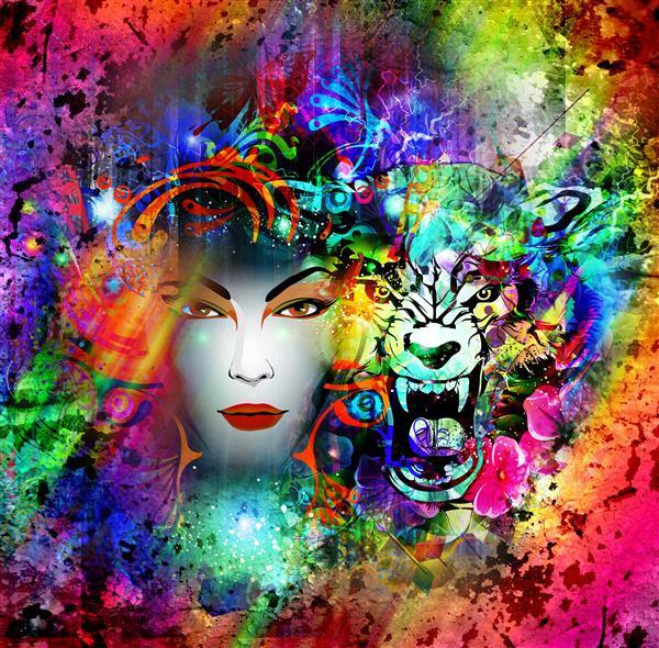 Artes visuais 133-Felinas multicolors.jp