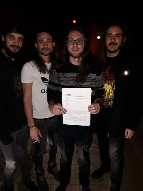 It's Official! We're signed to Cleopatra Records!