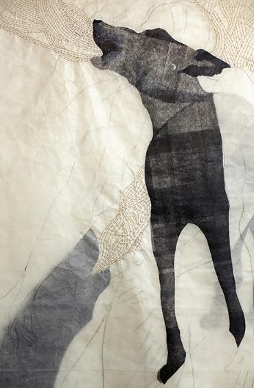Black wolf detail
