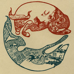 Migratory Patterns, wolf & bull