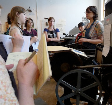 Platen Primer workshop at Baskerville. June 2014