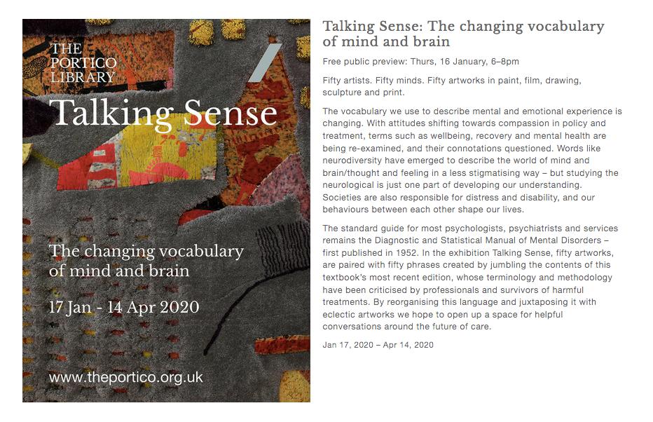 Talking Sense exhibition