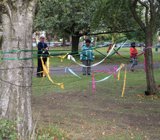 Mandalas and Weaving into the Spaces left by Trees