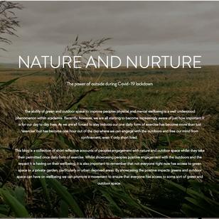 Encountering Nature Under Lockdown