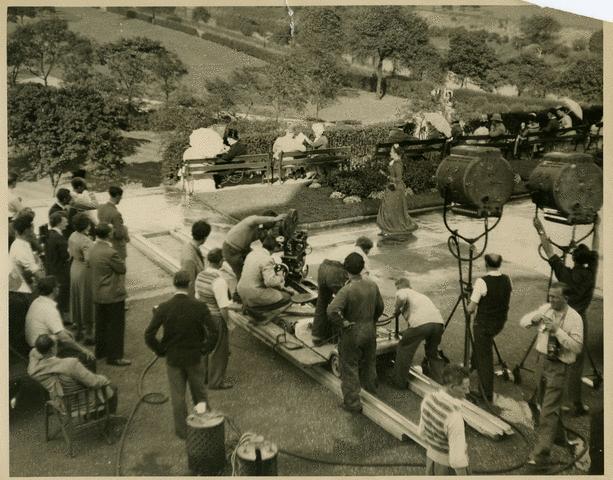 Filming Hobson's Choice in Peel Park