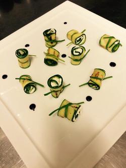 zucchine e crema di formaggio