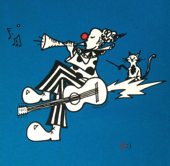 Clown guitare