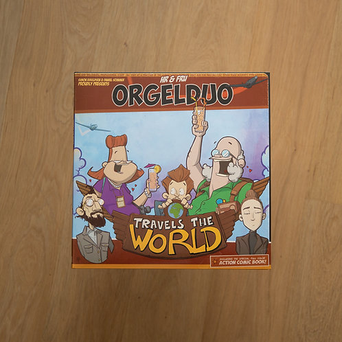 LP+Cartoon: Hr & Fru Orgelduo - Travels the World