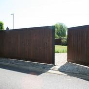 Steel-framed security gates - pedestrian opening.