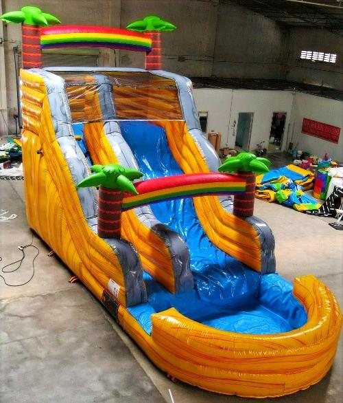 16' Double Dip Water Slide w/ pool