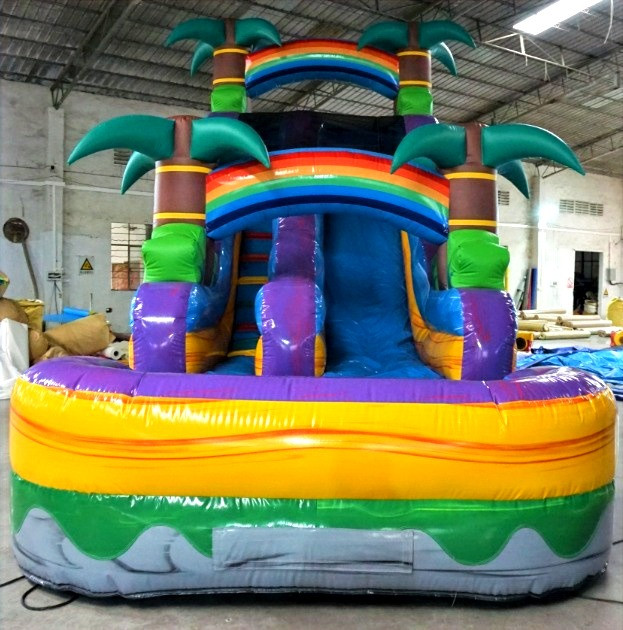 18' Tall Water Slide w/ pool
