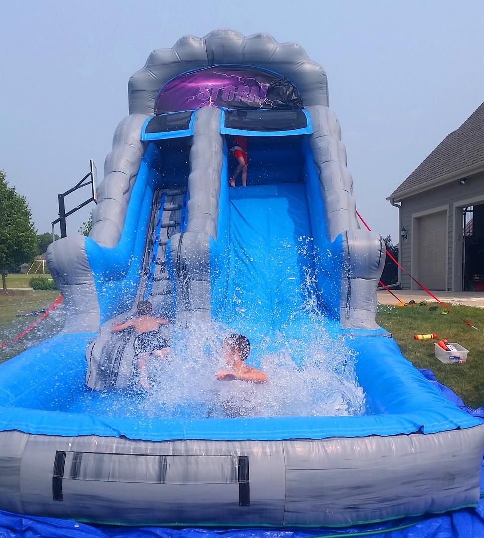 14' Storm Water Slide w pool