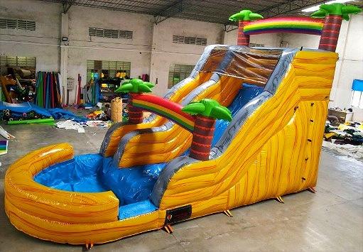 16' Double Dip Water Slide w/pool