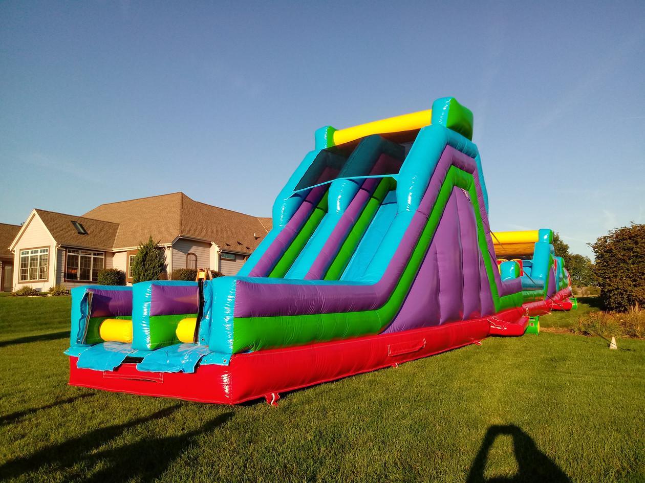 74' Obstacle- 17' High Slide