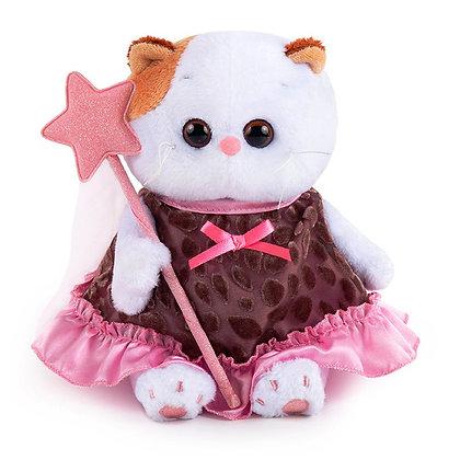 Ли-Ли BABY в коричневом платье с отделкой 20 см.