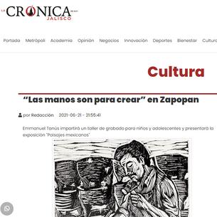 """""""Las manos son para crear"""" en Zapopan"""