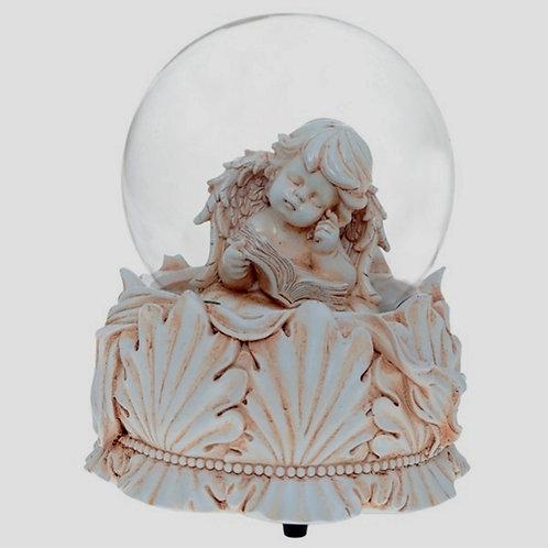 Ангел водяной стеклянный шар, диаметр 10 см.