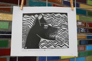 """""""El perro furioso"""" por Valentina"""