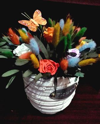 Кашпо Прованс (2) со стабилизированными цветами