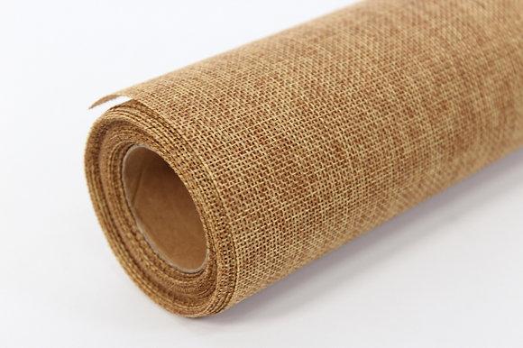 Лён (мешковина) искусственный, коричневый (натуральный)