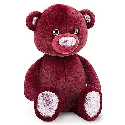 Пушистик Медвежонок бордовый 35 см