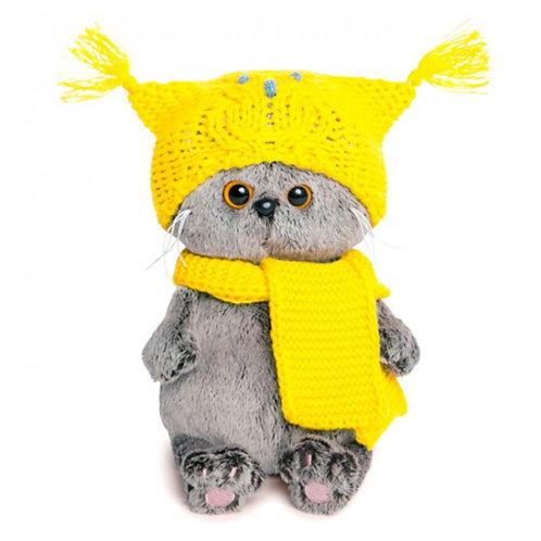 Басик Бэби в шапке-сова и шарфе 20 см.